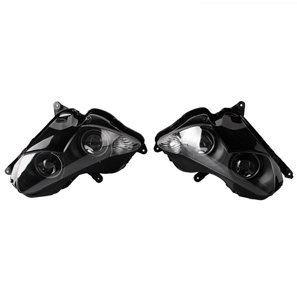 GZYF バイク用 ヘッドライト アセンブリ カウル 電球なし クリアレンズ 対応車種(カワサキ ZX-14R 12-14年) B01D1DMRD0