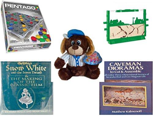 Children's Gift Bundle - Ages 6-12 [5 Piece] - Pentago Multi Player Game - Uncle Milton's Ant Farm Live Ant Habitat Toy - Sugarloaf Toys Baseball Dog Plush 11