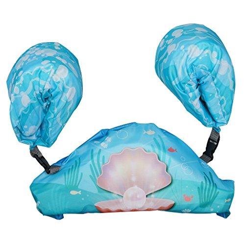 Megartico Kids Swim Trainer Arm Floats Infant Detachable Floatation Swim Armbands Set (Pearl) (Blue ()