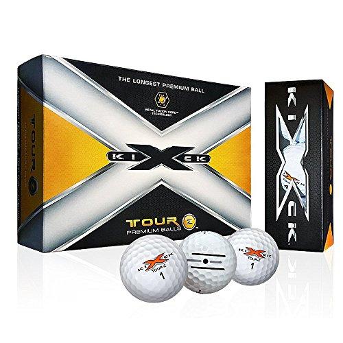 6 Dozen NEW Kick X Golf Tour Z Premium Golf Balls 72 Total - White by Kick-X (Image #1)