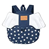 Weite Cartoon Backpack, 4 Colors Breathable Durable Nylon Light-weight School Bag with Three-dimensional Wings, Child Baby Girl and Boy Kids Cute Animal Backpack Toddler Outdoor Bag (Dark Blue)