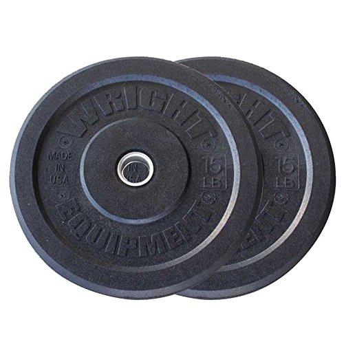 15lb-Wright-USA-Crumb-Bumper-Plates-Pair-Free-Shipping