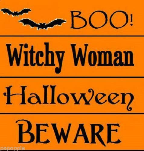 OutletBestSelling Stencil Lot Halloween Boo! Beware Witchy Woman Bats -