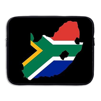 Amazon.com: SunmooLaptop Sleeve, South Africa Flag Map Black