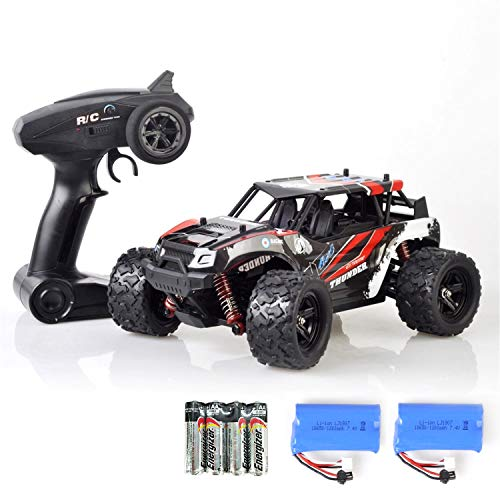Heycargo 1:18 Scale High Speed Off Road Remote Control Car,4WD 2.4Ghz Hobby Cross-Country Buggy, Electric Monster Truck Buggy Racing Toy Vehicles Rock Climber Desert Buggy for Kids Birthday Gifts