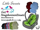 Little Sweetz * * 2 in 1 COSY SOFT MAXI ** seat reducer with removable head part / newborn use for summer and winter for Stroller, Highchair, Maxi Cosi and other