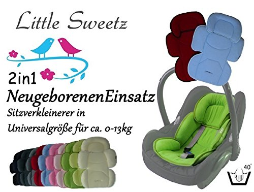 Little Sweetz ORIGINALS ** Auto-Sitzverkleinerer 2in1 Cosy Soft MAXI ** Sommer- und WinterSeite -- Ideal auch für Maxi Cosi, Cybex etc. sowie Kinderwagen, Hochstuhl etc. (BEIGE)