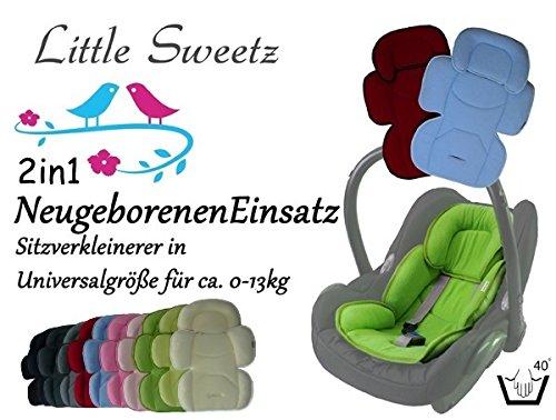 Sweet Littlez ** 2in1 Cosy Soft MAXI - ROSA ** Cojín reductor para silla de bebé / Protector de cuerpo para coche (0-12 meses)