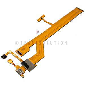 ePartSolution_LG G Pad 8.3 Tablet VK810 USB Charger Charging Port Flex Cable Dock Connector USB Port With Mic Microphone Flex Cable Repair Part USA Seller