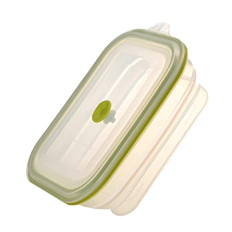 Amazoncom Longda Lfgb Approved Silicone Collapsible Lunch Box