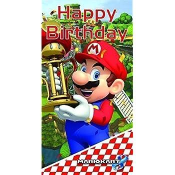 Amazon Mario Kart Happy Birthday Card Office Products