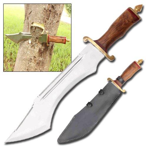 Edge Ripper Double Sawback Bowie Knife (Sheath Leather Sawback)