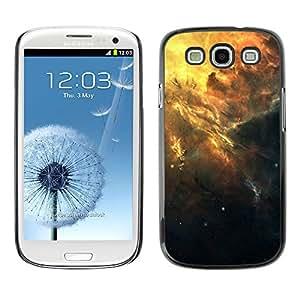 KLONGSHOP // Cubierta de piel con cierre a presión Shell trasero duro de goma Protección Caso - Hermoso racimo de la galaxia - Samsung Galaxy S3 //