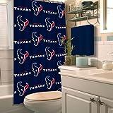 Northwest 1NFL903000119RET Nor-1NFL903000119RET Houston Texans NFL Shower Curtain NFL 903 Texans Shower Curtain