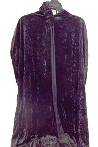 Black Hooded Cape Adult Costume NWT -