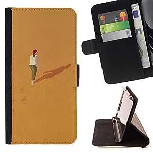 LG Magna / G4C / H525N H522Y H520N H502F H500F (G4 MINI,NOT FOR LG G4)Case , Significado Profundo Sola Chica Redhead- la tarjeta de Crédito Slots PU Funda de cuero Monedero caso cubierta de piel