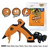 Gorilla Dual Temp Mini Hot Glue Gun Kit with 75 Hot Glue Sticks, (Pack of 1)