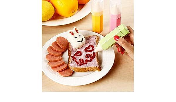 EQLEF® 3 pedazos / porción Alimentación Dibujo Conjunto de lápiz DIY de la galleta de la galleta de la torta del molde de la pluma decorativo Jam chocolate ...