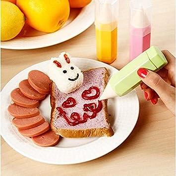 EQLEF® 3 pedazos / porción Alimentación Dibujo Conjunto de lápiz DIY de la galleta de