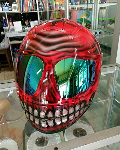 HAT 54 Custom Airbrushed Painted Fullface Motorcycle Helmet (XL = 61-62)