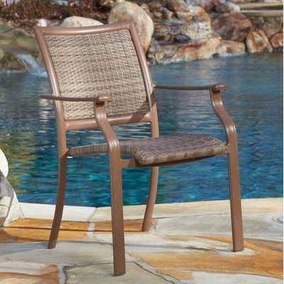 Panama Jack Outdoor Island Cove Woven Stackable - Height Chair Counter Island Long