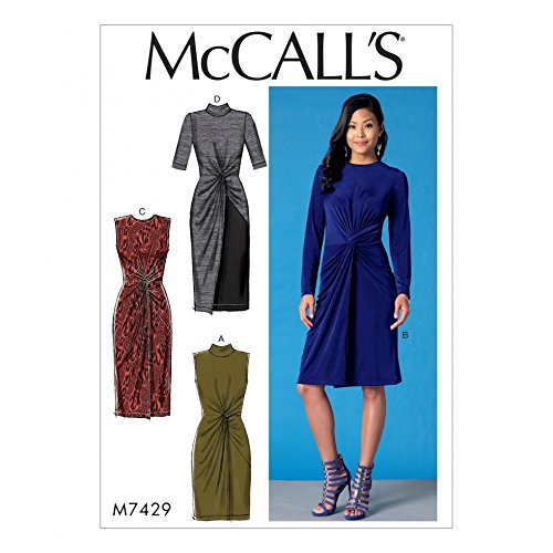 McCalls Ladies Easy Sewing Pattern 7429 Twist Front Dresses (Dress Pattern Front)