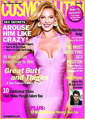 Cosmopolitan Magazine (February, 2008) Katherine Heigl Cover (Best Way To Arouse A Woman)