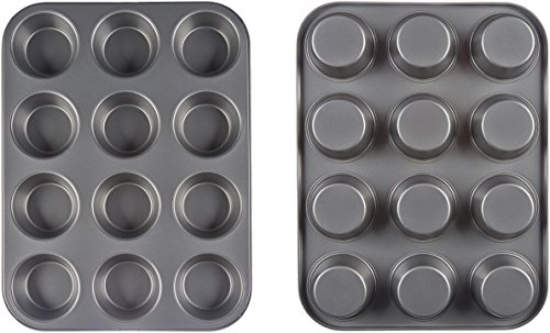 AmazonBasics Nonstick Carbon Steel Muffin Pan - 2-Pack by AmazonBasics (Image #3)
