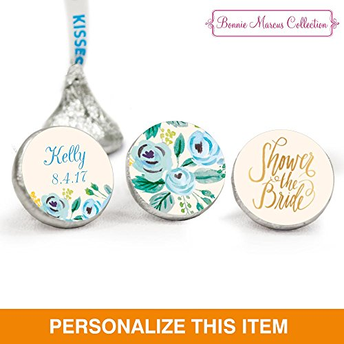 Personalized Bridal Shower Stickers for Hershey's Kisses (108 Count) - Bonnie Marcus
