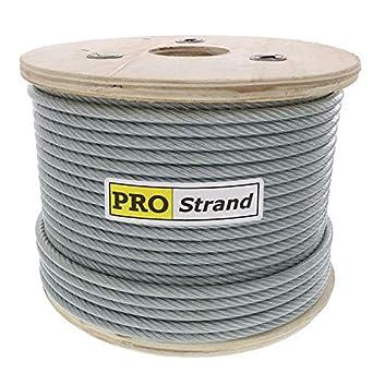 Amazon.com: Rollo de cable galvanizado recubierto de 1 ...