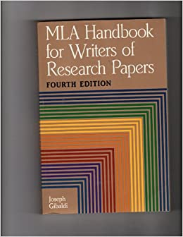 mla handbook for writers of research papers book Writers and general writers, the mla style is easy to follow, fairly intuitive in approach, and comprehensible even by those not training in such styles.