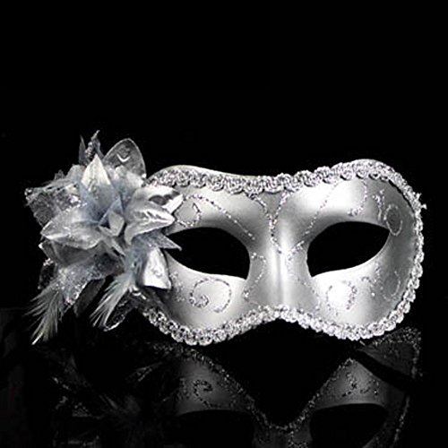 (Decath Mistery Luxury Mysterious Pretty Lady Glitter Mask, Women's Gorgeous Venetian Masquerade Mask)