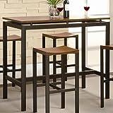 Amazon Com Baxton Studio Rochester Brown Modern Bar Table