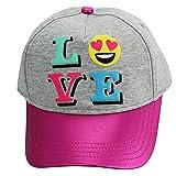 LOVE Emoji Youth Baseball Hat Kids Adjustable Sun Hat Pink Grey Fits Girls 4-14