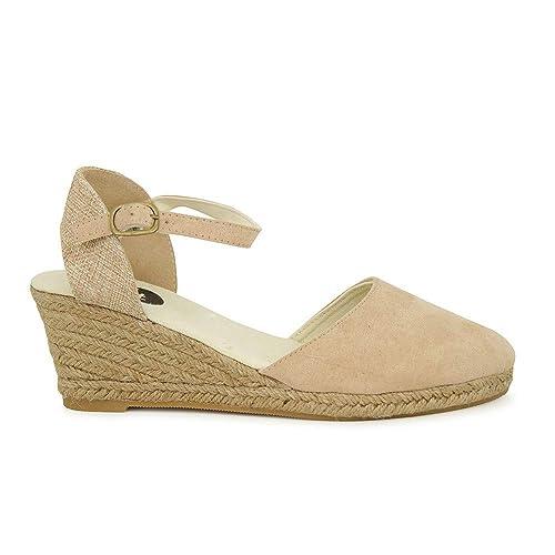 comprar online 51e9f d7406 Cuña de Esparto Yute Nude: Amazon.es: Zapatos y complementos