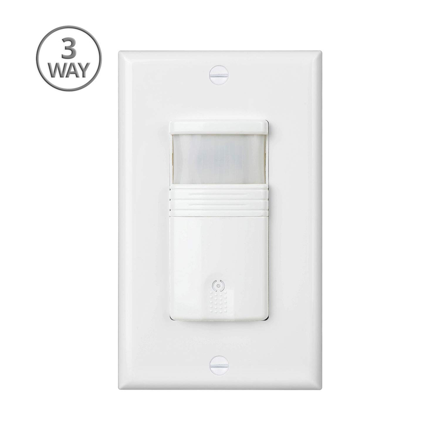 Pack Of 2 White 3 Way Motion Sensor Light Switch Neutral Wire Plate Required For Indoor