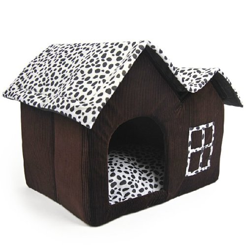 SKL Luxury High-end Double Pet Housebrown Dog Room Cat Bed 55 X 40 X 42 Cm