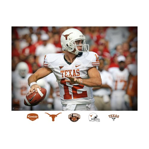 NCAA Texas Longhorns Colt McCoy Mural Wall Graphic by FATHEAD