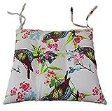 Tropik home Comfortable Seat Pads, Garden Kitchen Dining Chair Cushions Tie On (Birds)