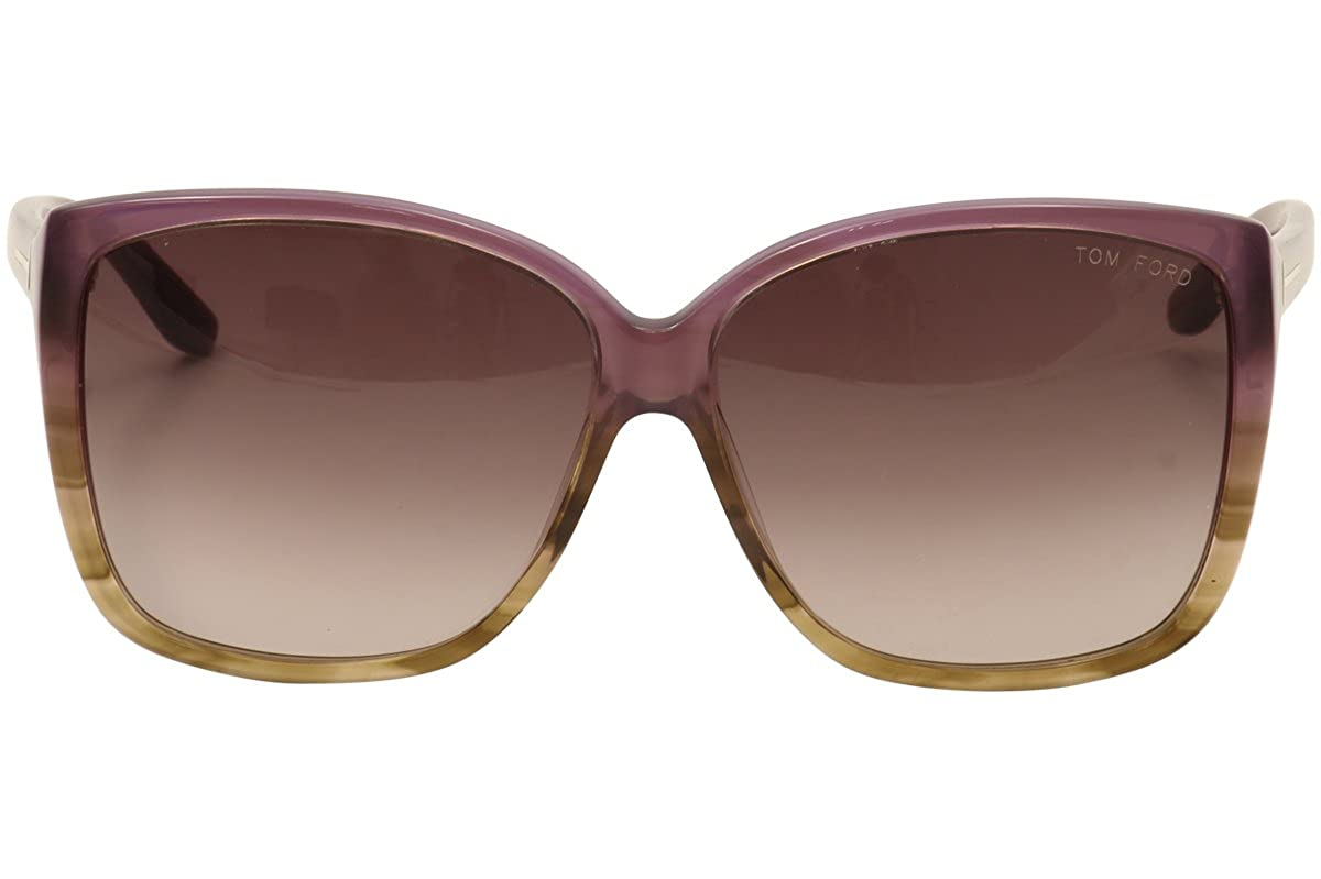 178028d2e8f7f Amazon.com  Tom Ford 0228 83z Purple Havana Lydia Wayfarer Sunglasses   Clothing