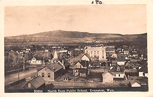 North from Public School Evanston, Wyoming postcard