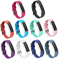 Gincoband 10Pcs Fitbit Bands Buckle At A Glance
