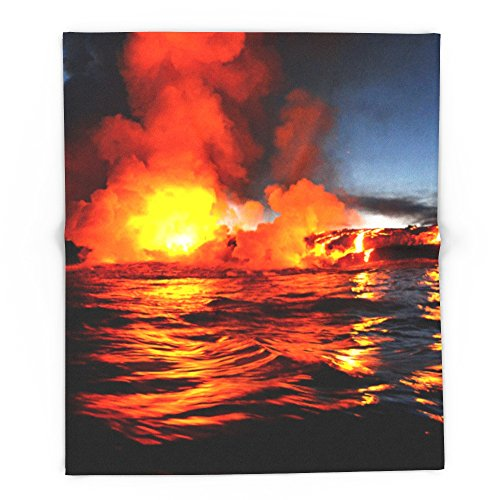 Society6 Kilauea - Hawaii 88'' x 104'' Blanket by Society6