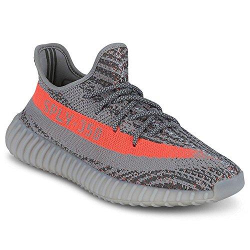 Adi Shoes Boost 350 V2 Uomo Scarpe Da Corsa Donna Sneaker Scarpe Basse Scarpe Sportive Serie Grigia Grigio / Arancio
