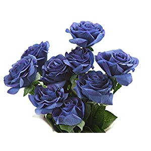 FiveSeasonStuff 10 Stems of Real Touch Silk Roses 'Petals Feel and Look like Fresh Roses' Artificial Flower Bouquet for Wedding Bridal Office Party Home Decor 92