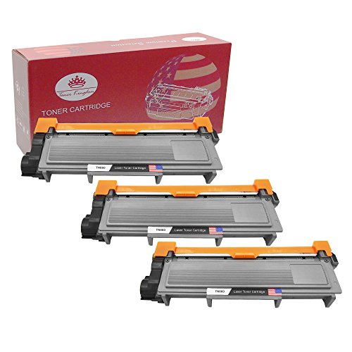 Toner Kingdom New Compatible with Brother TN660 TN630 High Yield Toner Cartridges - 3 Pack, Black