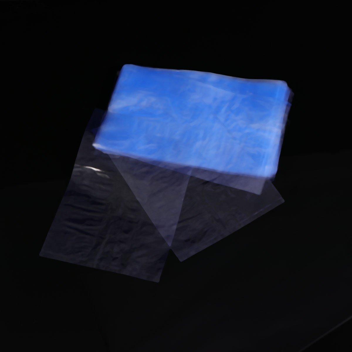 Hemobllo 100pcs involucri del PVC che restringono le borse della saldatura a caldo del film che imballano la pellicola per i saponi bombe del bagno e lartigianato di DIY 10 x 15cm