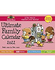 MotherWord Ultimate Family Calendar, Value Version for Fridge, Wall, or Desk, 16-Month, Sept 2021-Dec 2022, English, 18 x 13.5 Inches (MWAMZ0528-22)