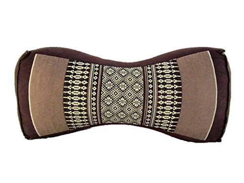 Mongkol Brand Thai Kapok Filling Daybed Reading Bed Rest Knee Wedge Bone Shaped Neck Pillow (Small Bone Daisy Cocoa) by Mongkol Brand