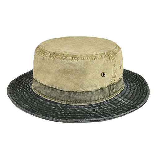 VOBOOM Men Washed Cotton Panama Bucket Hat Packable Summer Travel Fishing Boonie Cap - http://coolthings.us